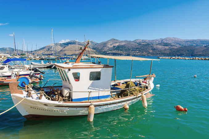 Bild zeigt Lixouri auf der Insel Kefalonia.